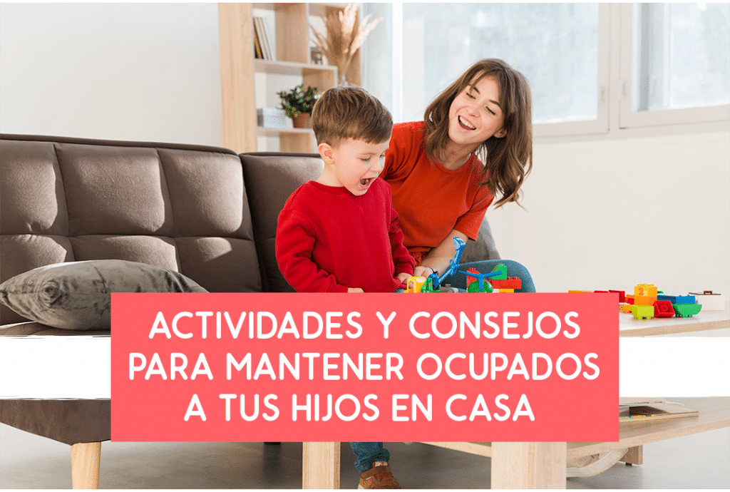 mantener a tus hijos ocupados en casa